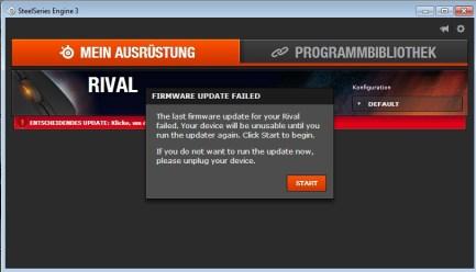 Update? Fehlgeschlagen. (Foto: GamingGadgets.de)