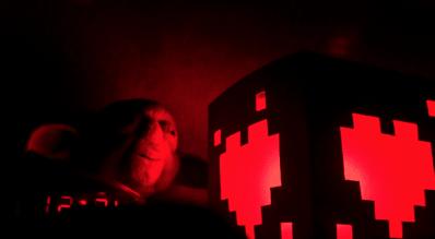 Pixel Hearts Paper Lamp. (Foto: Erick Chévez)