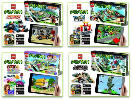 Die vier Lego Fusion-Sets im Überblick (Foto: Lego)