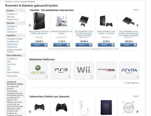 Augen auf - hier könnt ihr teils wirklich günstige Konsolen kaufen. Oder Telefone, Laptops, Spiele etc.