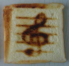Notenschlüssel-Toast (Burntimpressions.com)