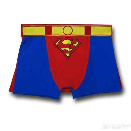 Superman Red and Blue Caped Boxer Briefs (Foto: superherostuff.com)