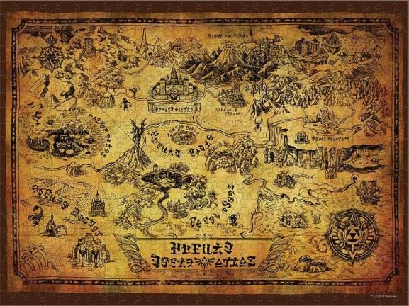 Eine detailierte Karte von Hyrule (Foto: ThinkGeek)
