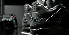 "Air Jordan 4 ""PS4″ Custom (Foto: FreakerSNEAKS)"