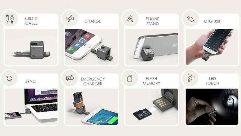 Die Funktionen des Wondercube (Foto: Indiegogo)