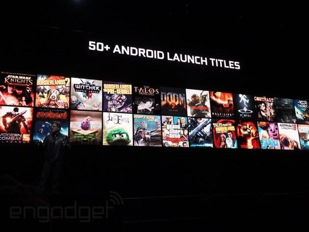 Diese Spiele sind unter anderem geplant. Sie werden nicht gestreamt, sondern sind direkt Android-Portierungen. (Foto: Engadget)