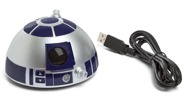 Der R2D2 Speakerphone mit Licht-Effekten.