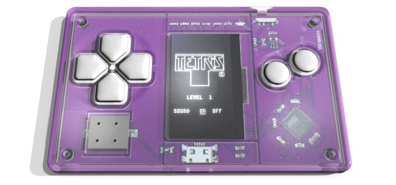 Komplette Konsole. Aber eben nur Tetris... (Foto: Arduboy)