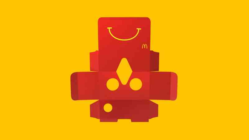 Bastelbausatz. (Foto: McDonalds Schweden)