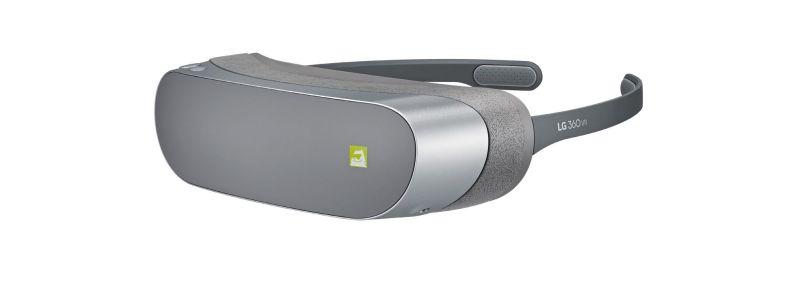 Eine leichte, schmale VR-Brille. (Foto: LG)
