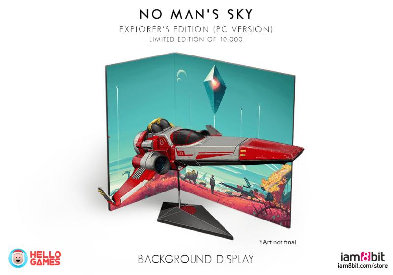 Das Raumschiff mit dem Diorama-Hintergrund. (Foto: Hello Games / iam8bit)