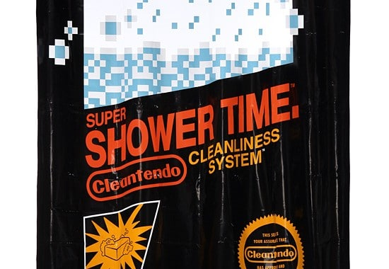 retro gaming shower curtain riesiges