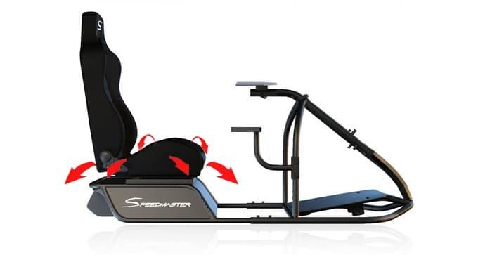 Der Sitz bewegt sich in alle Richtungen, abhängig vom Spiel. (Foto: Speedmaster)