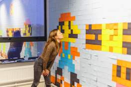 Super Mario Post-It Kunst. (Foto: Viking)
