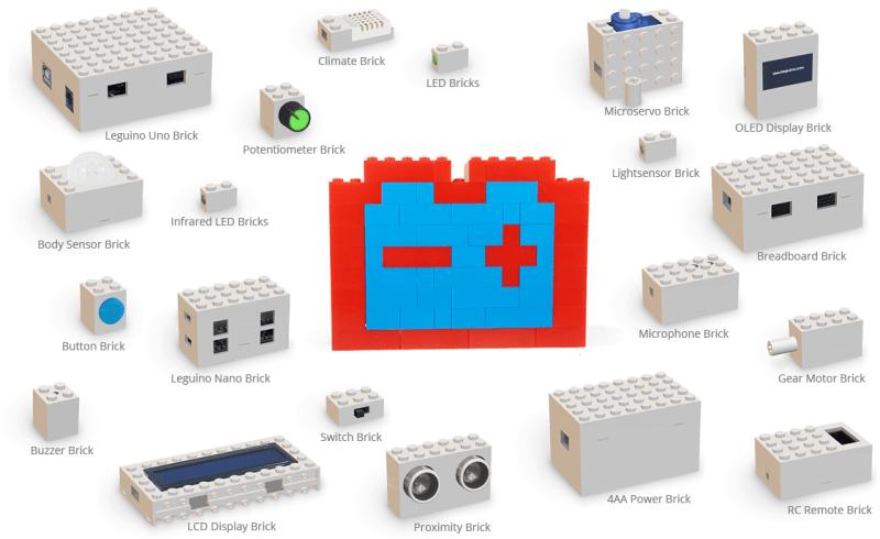 Zahlreiche Funktionen erhalten kompatible LEGO-Klötze. (Foto: Leguino)