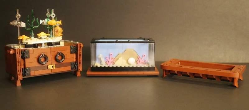 Das LEGO Aquarium besteht aus mehreren Teilen. (Foto: LEGO Ideas)