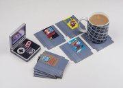 Retro Bierdeckel: Alte Spielmodule als Untersetzer