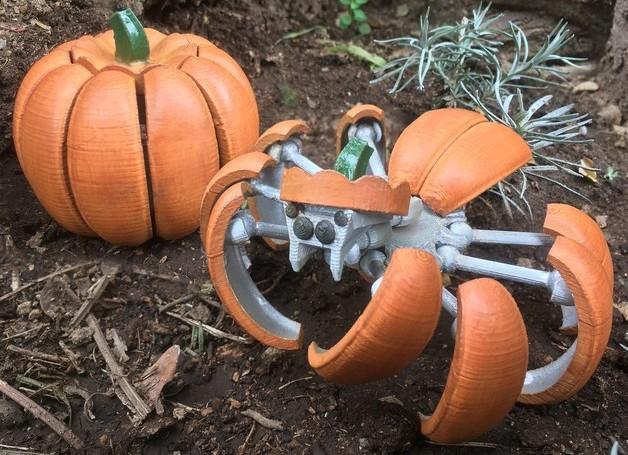 Viel kann die Halloween Kürbis-Spinne nicht. (Foto: Thingiverse)