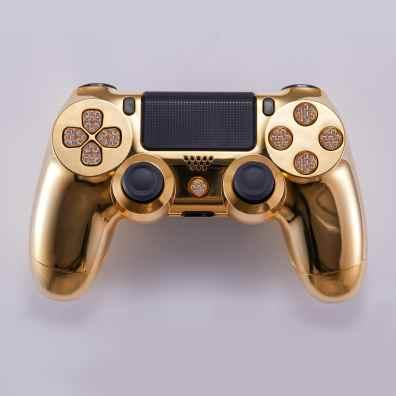 LUX DualShock 4 Controller aus Gold. (Foto: Brikk)