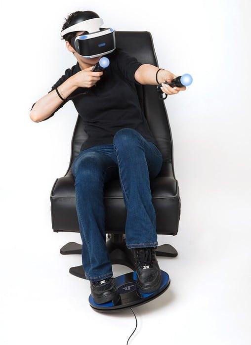 So stellt sich Sony das Spielen vor. (Foto: Sony / 3dRudder)