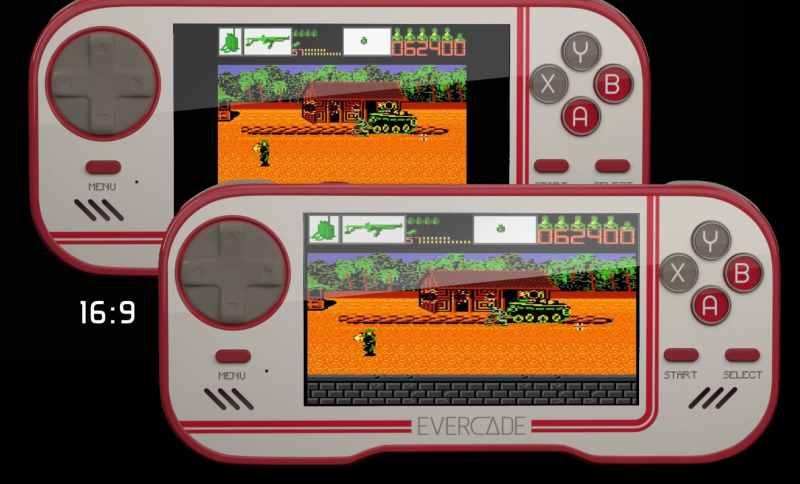 16:9-Display, das so groß wie das der PSP ist. (Foto: Evercade)