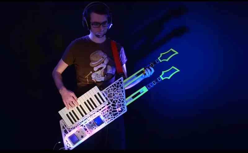 Ein echtes Gitarren-Monster. (Foto: Theremin Hero)