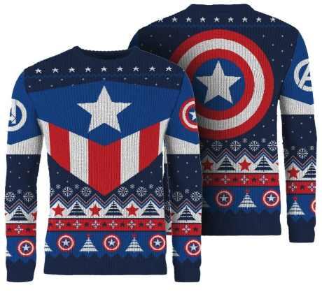 Captain America Weihnachtspullover. (Foto: Merchoid)