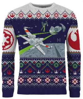 X-Wing vs. Tie-Fighter Weihnachtspullover. (Foto: Merchoid)