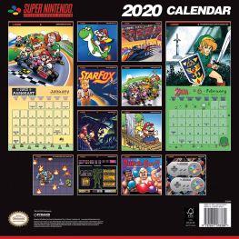 SNES Retro-Kalender 2020 Rückseite. (Foto: Nintendo)