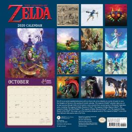 Zelda 2020 Kalender Rückseite. (Foto: Nintendo)