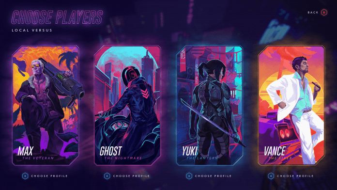 Hyper Jam Review Character Selection