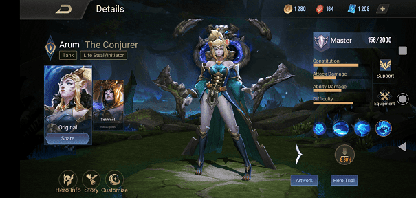 Arum Hero Class and Role Arena of Valor
