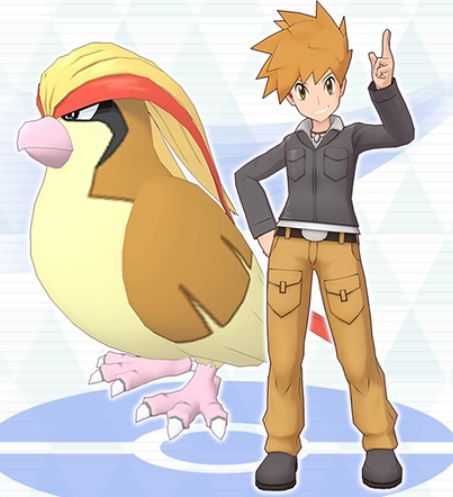 blue and pidgeot in pokemon masters, pokemon masters sync pairs