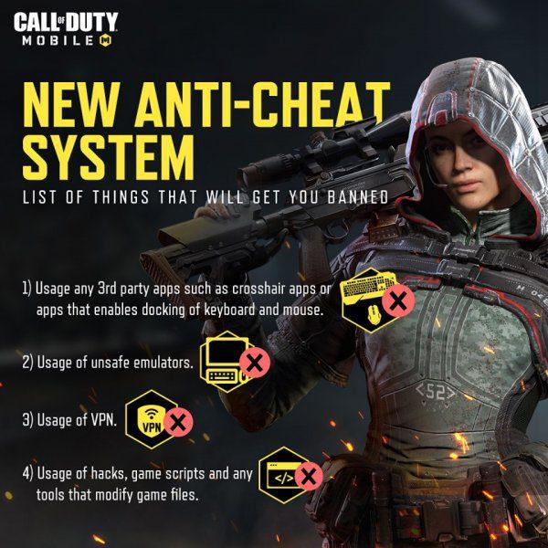 Sistema anti-trampa Call of Duty Mobile