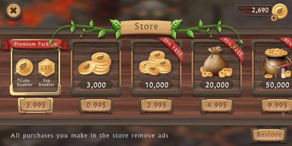 dragon sim online store page