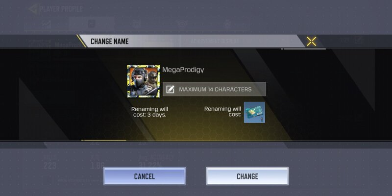 how to change the account name in Call of duty mobile
