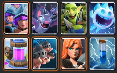 Royal Hogs 3M Valkyrie deck, best challenge deck in clash royale