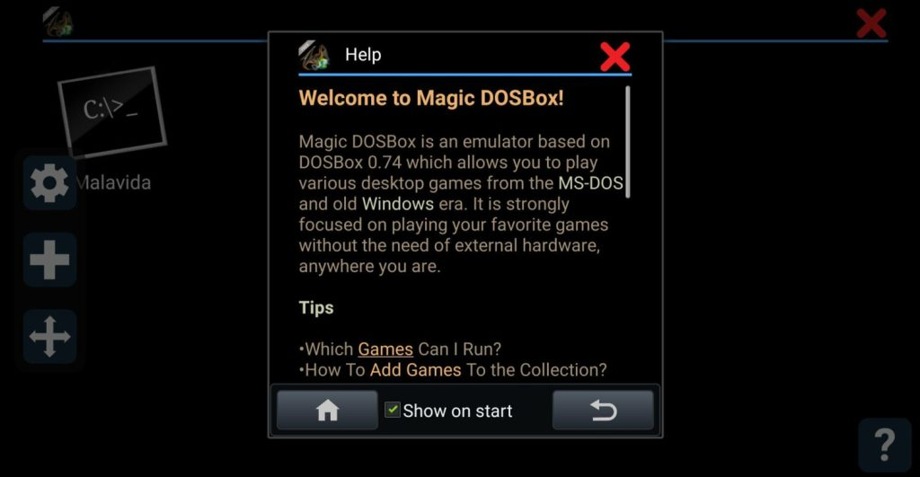 DOS Emulation, android emulators