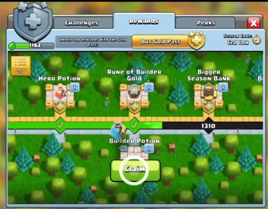 clash of clans gold pass