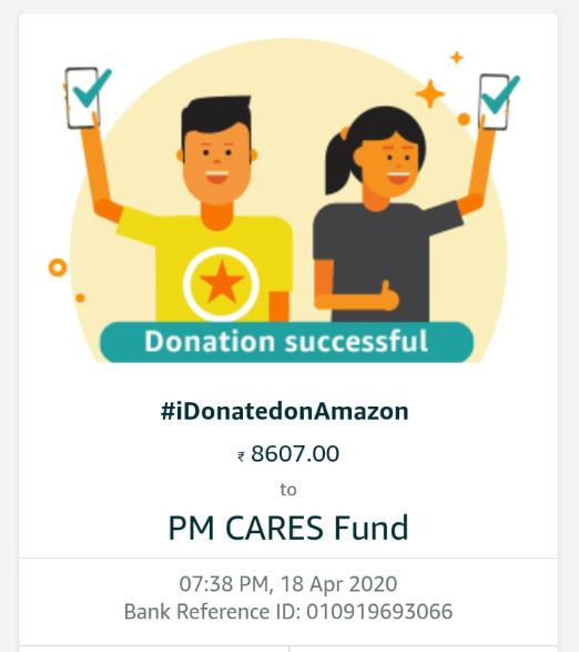 donation from CODM India community's stream