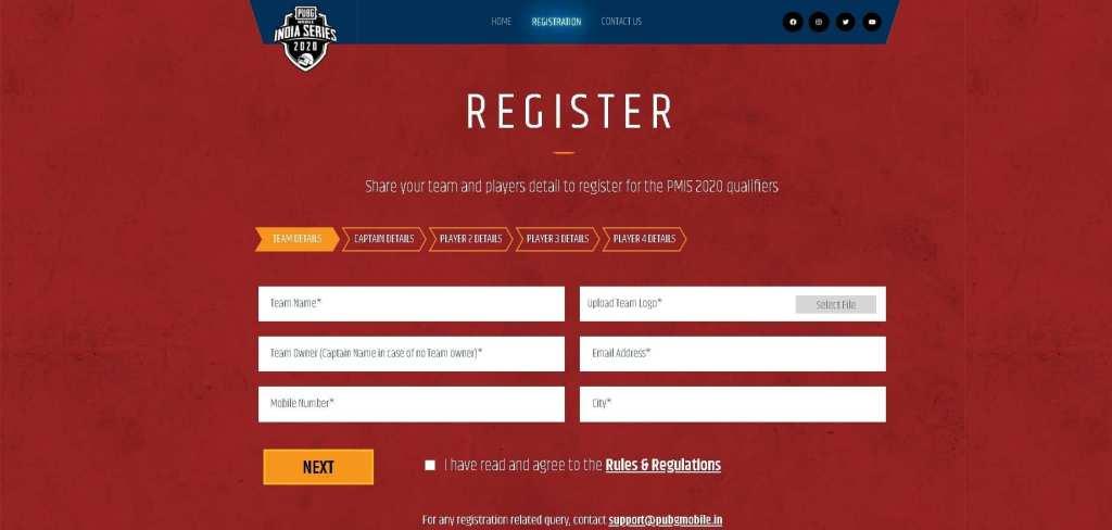 Register for PMIS 2020