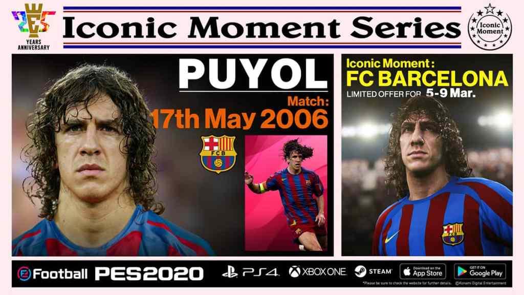 Barcelona Iconic Moments Puyol