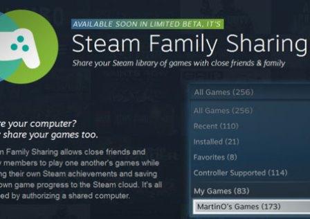 Steam Anunciou Ontem o Family Sharing