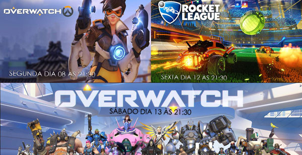 Transmissões Da Semana: Overwatch e Rocket League