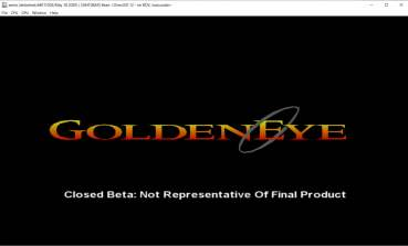 Title screen, the Xbox version of GoldenEye 007
