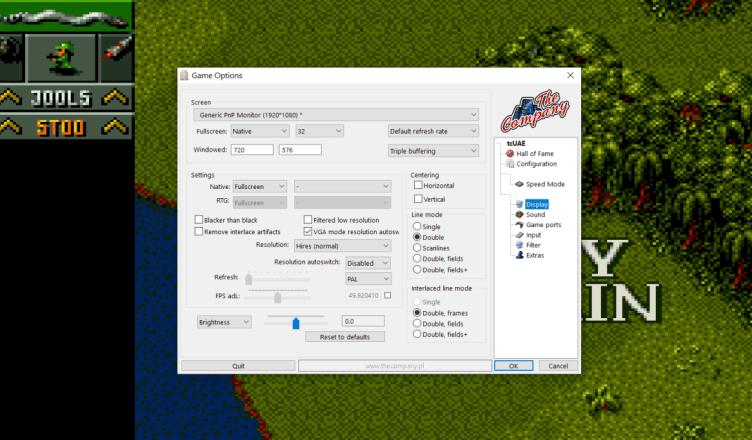 Executable Amiga games emulation on Windows