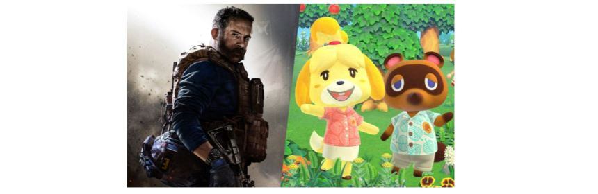animal crossing sales call of duty logo