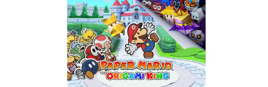 paper mario the origami king title screen logo