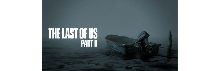 the last of us part ii title screen logo