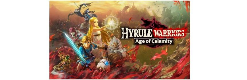 hyrule warriors age of calamity title screen logo